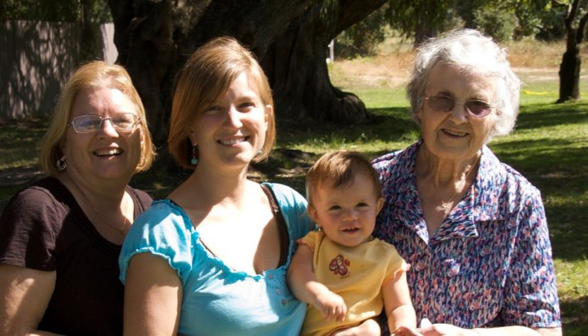 smiling family with multiple generations