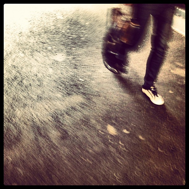 procrastinate, law, estate - blurred image of feet running