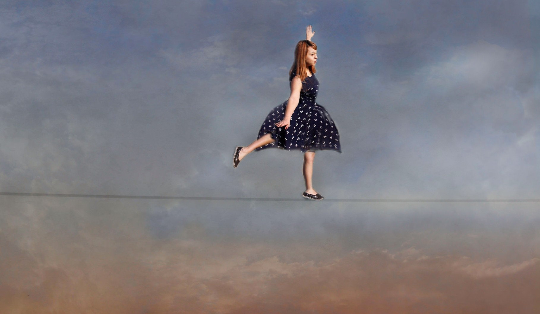 Balance life blog - child balancing on high tight rope