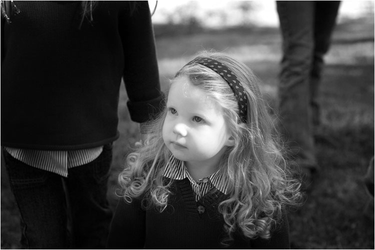 guardianship - black and white photo of child