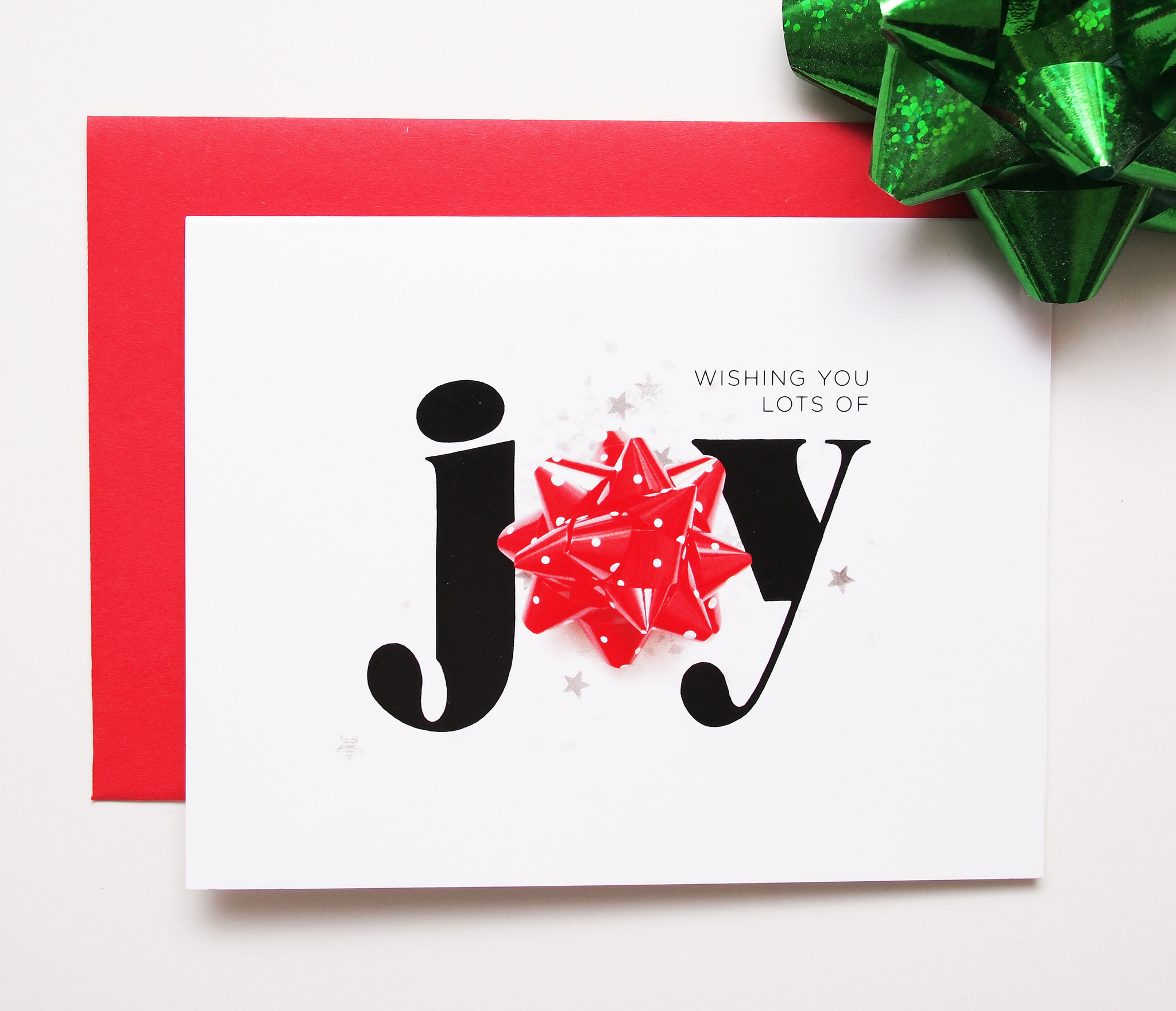 holiday cheer - holiday card with JOY