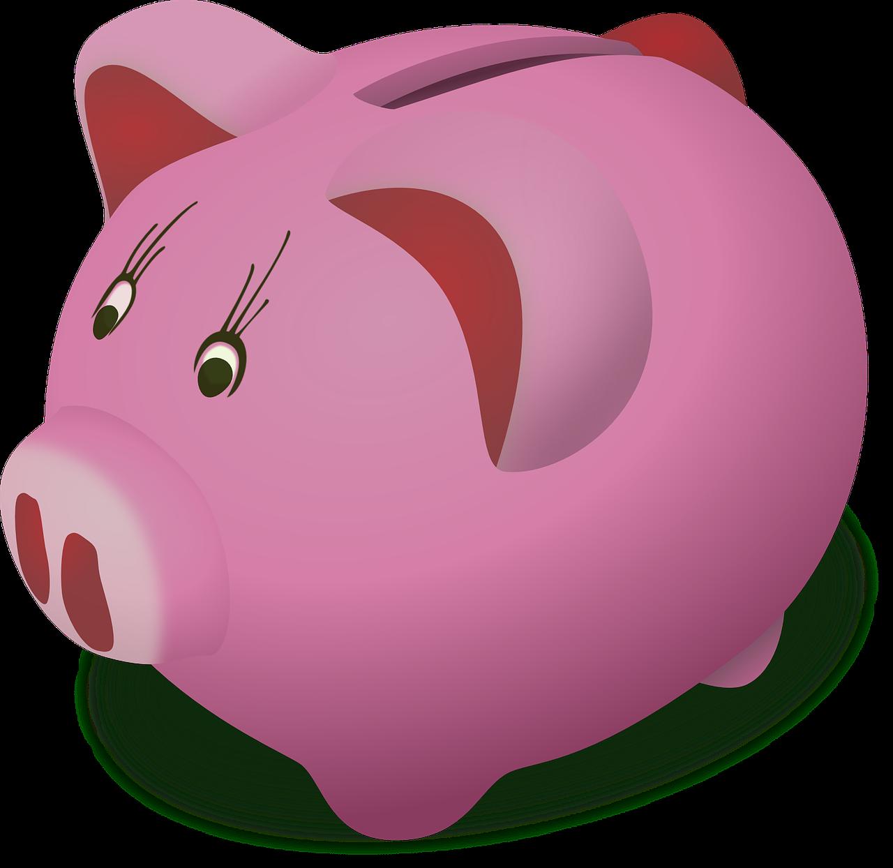 right estate plan - cartoon graphic of a piggybank